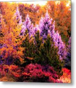 Sureal Forest Metal Print