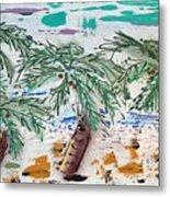 Surf And Palms Metal Print