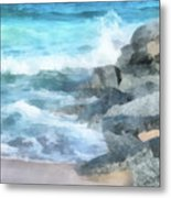 Surf Break Metal Print