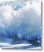 Surf Splashes Metal Print