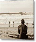 Surf Watcher Metal Print