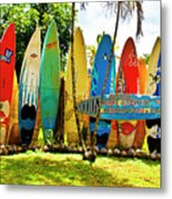 Surfboard Fence II-the Amazing Race Metal Print