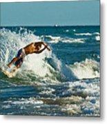 Surfboarding In Florida Metal Print