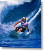 Surfer Dude Catching A Wave Metal Print