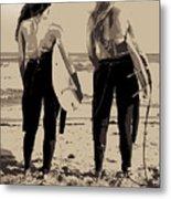 Surfer Girls Metal Print