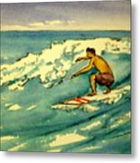 Surfer In The Sky Metal Print