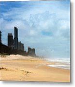 Surfers Paradise On A Stormy Day Metal Print