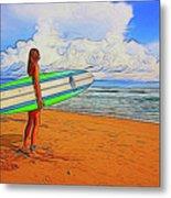 Surfing 19518 Metal Print