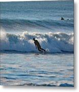 Surfing At Hampton Nh Metal Print