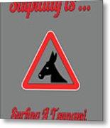 Surfing Bigstock  Donkey 171252860 Metal Print