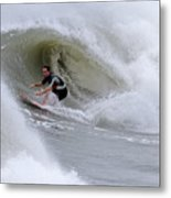 Surfing Bogue Banks 1 Metal Print