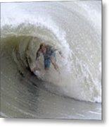 Surfing Bogue Banks 4 Metal Print