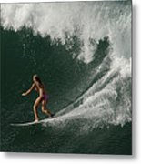 Surfing Hawaii 2 Metal Print