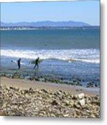 Surfing In Ventura Ca Metal Print
