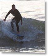 Surfing Narragansett Metal Print
