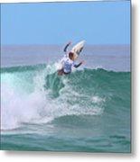 Surfing Panorama Metal Print