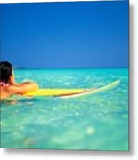 Surfing Serenity Metal Print by Dana Edmunds - Printscapes