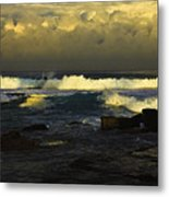 Surfing The Storm Metal Print