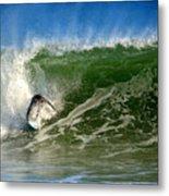 Surfing The Winter Atlantic Metal Print