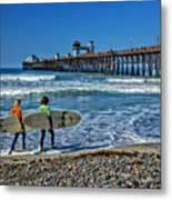 Surfing Today Metal Print
