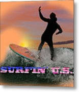 Surfing U.s.a. Metal Print