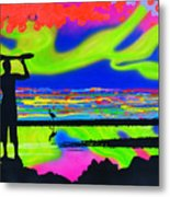 Surfscape Dreaming Metal Print