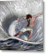 Surf'sup Metal Print