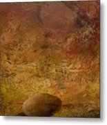 Surreal Egg On An Abstract Canvas Metal Print