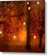 Surreal Fantasy Autumn Woodlands Starry Night Metal Print