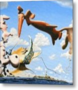 Surreal Friends Metal Print
