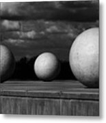 Surreal Globes Metal Print