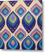 Surreal Peacock Pattern Design. Metal Print