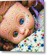 Surreal Trippy Deep Dream Doll Metal Print