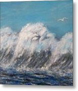 Surreal Tsunami Metal Print