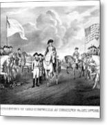 Surrender Of Lord Cornwallis At Yorktown Metal Print