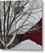 Surrounded By Snow Metal Print