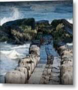 Surrounded By The Ocean - Jersey Shore Metal Print