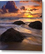 Surrounded By The Sea Metal Print
