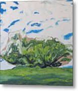 Surrounded With Clouds Metal Print