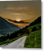 Surselva Valley Metal Print