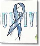 Survive Colon Cancer Metal Print