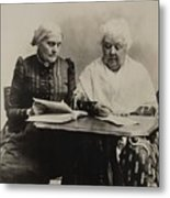 Susan B. Anthony And Elizabeth Cady Metal Print