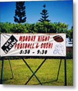 Sushi And Football In Hawaii Metal Print