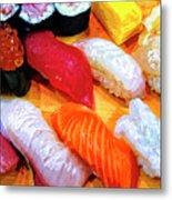Sushi Plate 4 Metal Print