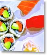Sushi Plate 6 Metal Print