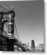 Suspension Bridge Metal Print