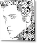 Suspicious Minds Elvis Wordart Metal Print