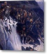 Suvorov Crossing The Alps In 1799 Metal Print