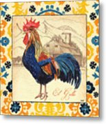 Suzani Rooster 1 Metal Print
