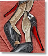 Suzette Loves Her Louboutins Metal Print